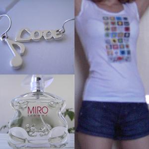 Ohringe von SIX; Miro Flower; Shorts von H&M; T-shirt gekauft bei H&M und dann bedrucken lassen