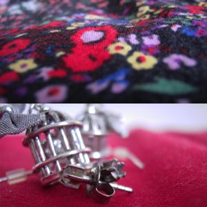 Tag 6: Kleid von H&M- Garden Collection, Vogelkäfigohringe von SIX, Stecker von Bijou Brigitte