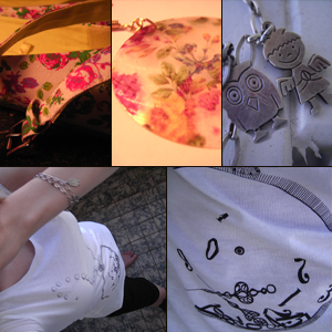 Day 8: Ballarina Pumps, T-shirt and Earrings by H&M, Shorts by Avanti, Vintage Bracelet