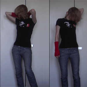 Day 18: Jeans and Gaiter by H&M, T-shirt by Cyroline