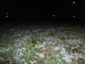Hagel wie Schnee gab es beim heimischen Unwetter.