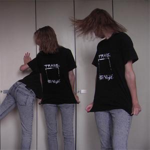 Tag 36: T-shirt Blue Praha (aus Prag :3), Jeans H&M, Nagellack Essence