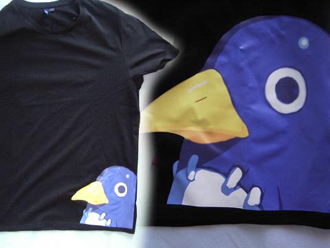 T-shirt mit Prinny (schwarzes T-shirt von H&M, Bild selbstgemalt und bedrucken lassen)