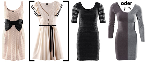Dresses (I'm not sure about the one in the brackets)