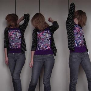 Tag 64: Strickjacke und Jeans H&M, T-shirt Mango