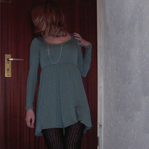 Day 95 (9.10.2010): Day 94: Dress and Tights Gina Tricot, necklace SIX