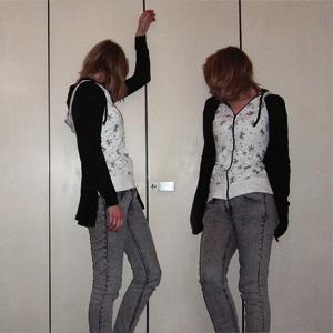 Tag 101: T-shirt Avanti, Strickjacke Pimkie, Jeans H&M