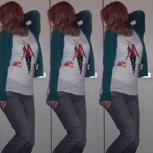 Tag 110 (24.10.2010): Strickjacke, Top, T-shirt und Jeans H&M