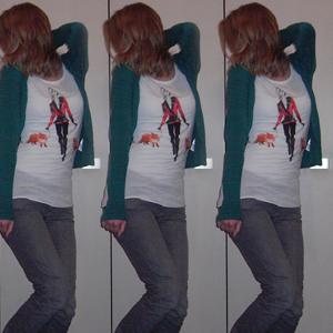 Tag 110 (24.10.2010): Strickjacke, Top, T-shirt und Jeans H&M