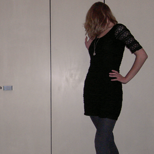 Tag 116: Kleid H&M, Strumpfhose unbekannt, Kette Erbstück