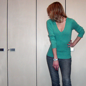 Tag 168: Pullover H&M, Jeans Mister*Lady, Uhr Fossil