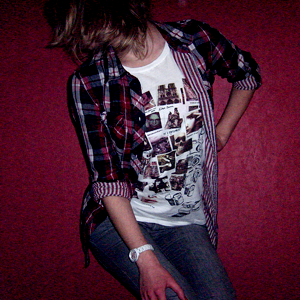 Tag 169: Bluse H&M, T-shirt Gina Tricot, Jeans Mister*Lady, Uhr Fossil