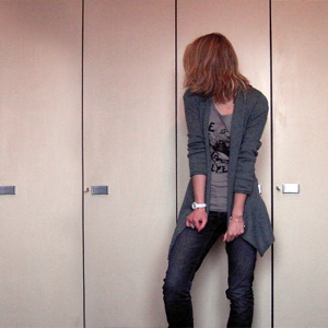 Tag 212: Strickjacke H&M, T-shirt Review, Jeans Mister*Lady, Armbanduhr Fossil