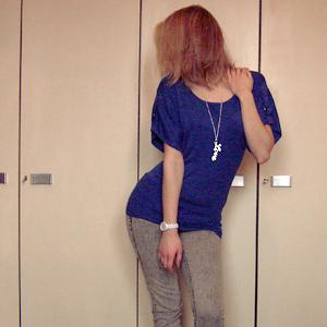 Tag 222: Oberteil und Lovekette Primark, Jeans H&M, Uhr Fossil