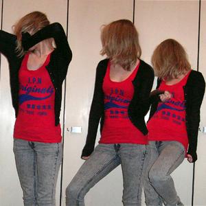 Tag 224: T-shirt Primark, Strickjacke und Jeans H&M