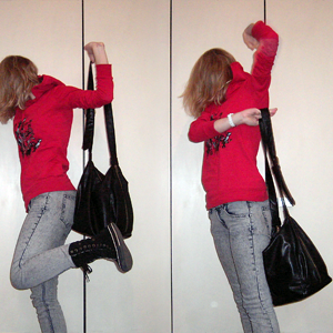 Tag 228: Oberteil Mister*Lady, Jeans und Tasche H&M, Schuhe Converse