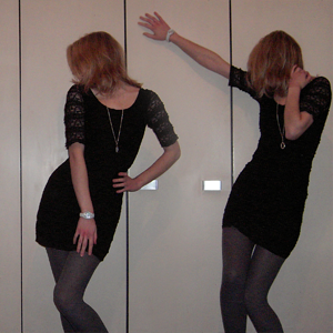 Tag 237: Kleid H&M, Strumpfhose C&A, Uhr Fossil, Kette SIX