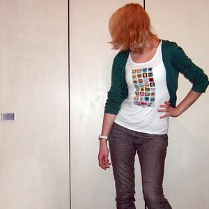 Tag 251: Kleidung H&M (T-shirt Aufdruck selbstgemacht), Uhr Fossil
