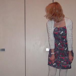 Tag 258: Strickjacke H&M, Kleid Primark, Strumpfhose C&A