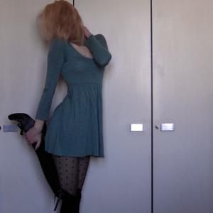 Tag 261: Kleid Gina Tricot, Strumpfhose H&M, Overknees Primark, Schuhe Sasha