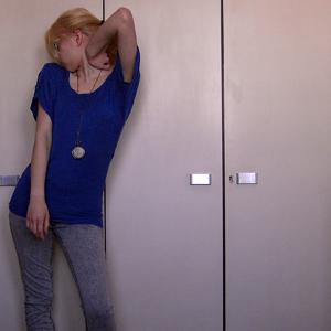 Tag 267: Oberteil Primark, Jeans und Pilotensonnenbrille H&M,  Kette Pimkie