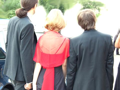2009: Abiball (von links: Freierfall, ich, Souli)