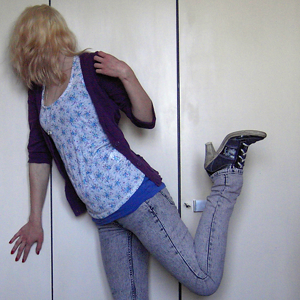 Tag 301: Strickjacke Mister*Lady, Tanktop Pimkie, Top und Jeans H&M, Schuhe Mustang