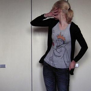 Tag 314: T-shirt Tally Weijl, Strickjacke Pimkie, Jeans Mister*Lady, Uhr Fossil