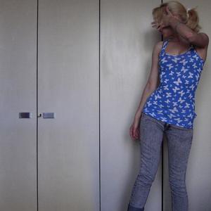 Tag 335 (06.06.2011): Top Primark, Jeans H&M, Haarband H&M kids, Armreifen aus den 70ern (von meiner Mum)