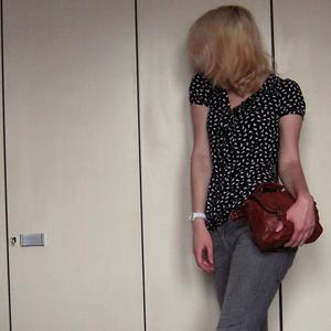 Tag 345 (16.06.2011): Bluse und Tasche Pimkie, Jeans H&M, Uhr Fossil