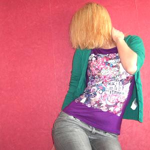 Tag 346: Strickjacke und Jeans H&M, T-shirt Mango