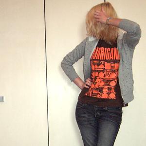 Tag 349: Sweatshirtjacke unbekannt, T-shirt Hurricane-Festival, Jeans Mister*Lady
