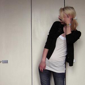 Tag 354: Strickjacke unbekannt, Top und Tanktop H&M, Jeans Mister*Lady, Haarband H&M kids