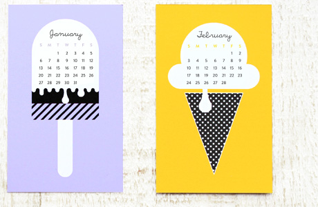 Einen sehr süßen Kalender für 2013 findet ihr auf eatdrinkchic