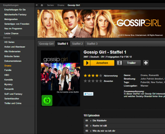 Watchever - Gossip Girl