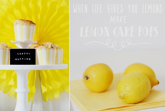 Müslimuffins und Zitronen-Cakepops