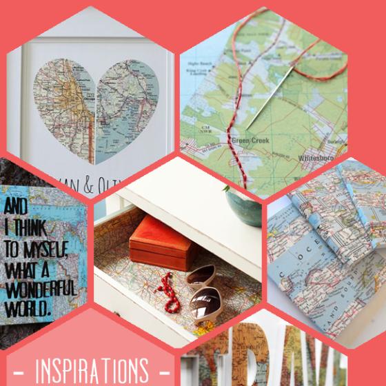 Weltkarten-DIY-Inspirationen