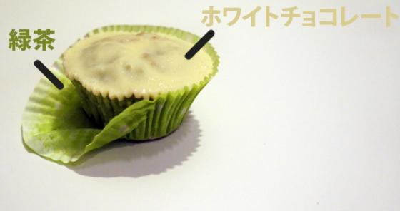 Grüner Tee-Weiße Schokolade Muffins
