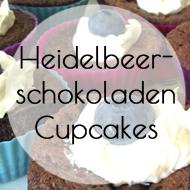 Heidelbeerschokoladen Cupcakes