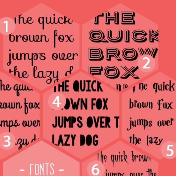 6 kostenlose Fonts