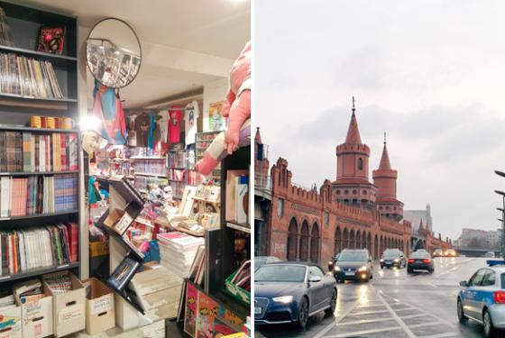 Comic-Laden und Warschauer Brücke