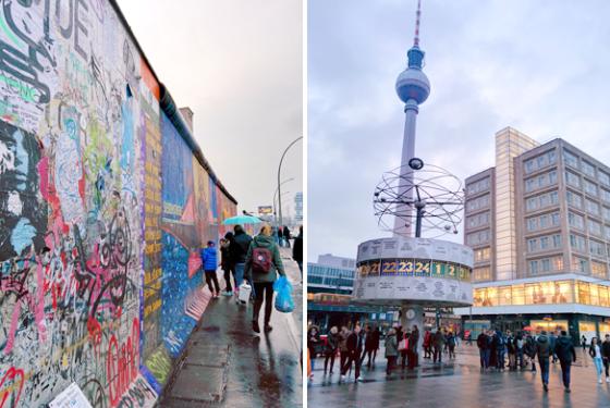 Berliner Mauer, Alexanderplatz und Fernsehturm