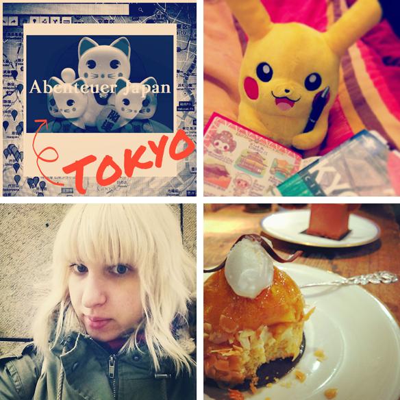 Abenteuer Japan, Pikachu hilft bei den Reiseplanungen, Selfie und toller Kuchen.