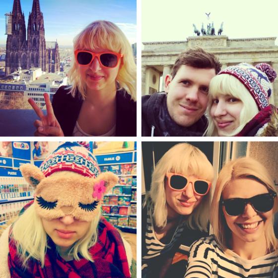 Foto mit dem Kölner Dom, Foto mit dem Brandenburger Tor, eine Reisemaske und der erste warme Tag