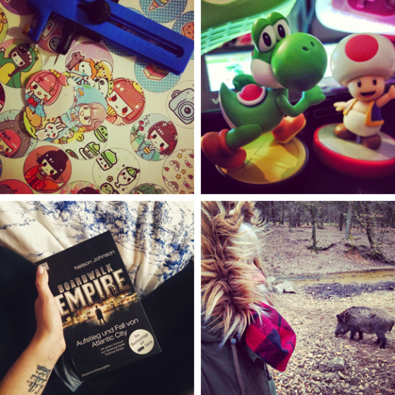 Sticker, Mario Party 10, Boardwalk Empire Buch und Wildschweine