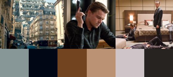 Die Farben des Films Inception von Christopher Nolan.