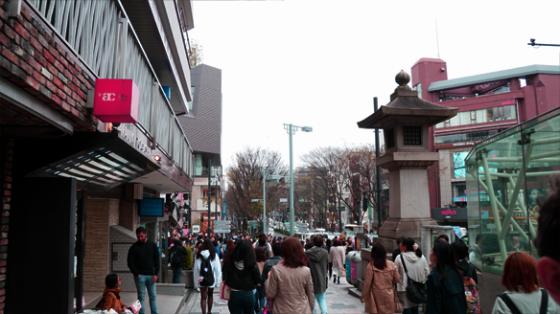 Große Menschenmassen in Harajuku.