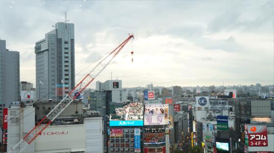 Shibuya von Oben