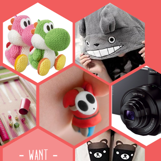 Yoshi, Totoro, Backgammon, Shy Guy, Objektiv, Bärchenstrumpfhose