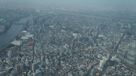 Die Aussicht vom Skytree